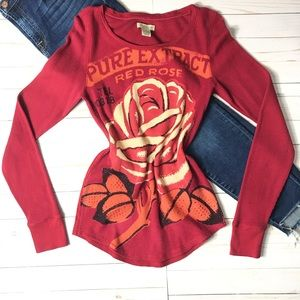 """LUCKY BRAND- """"Rose Extract"""" Thermal Long Sleeve"""